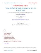 Ebook Tổng Thống NGÔ ĐÌNH DIỆM Kẻ Sĩ Cuối Cùng Phạm Phong Dinh