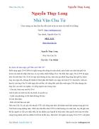 Ebook Nhà Văn Chu Tử Nguyễn Thụy Long