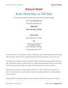 Ebook Kinh Thiên Đạo và Thế Đạo