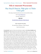 Ebook Học thuyết Darwin Phật giáo và Thiên Chúa giáo Tiến sĩ Amarasiri Weeraratne