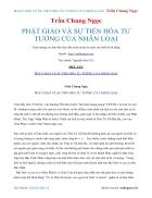 Ebook PHẬT GIÁO VÀ SỰ TIẾN HÓA TƯ TƯỞNG CỦA NHÂN LOẠI Trần Chung Ngọc