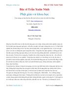 Ebook Phật giáo và khoa học Bác sĩ Trần Xuân Ninh