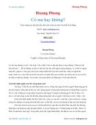 Ebook Có ma hay không Hoang Phong