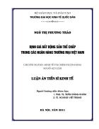 Định giá bất động sản thế chấp trong các ngân hàng Thương mại Việt Nam